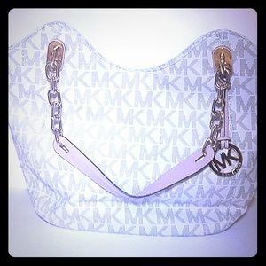 Michael Kors Bag - White, Golden Chains